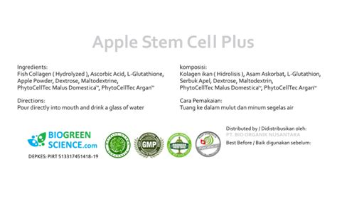 Promo Bio Apel Cell biogreen science apple stem cell murah rp 725 000