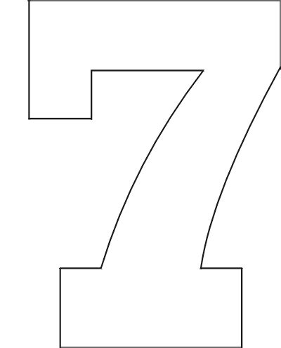 printable big number stencils 6 best images of printable block number 7 block letter