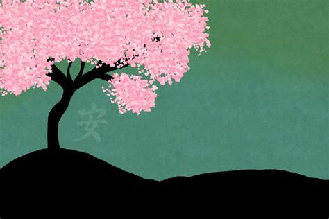 wallpaper cartoon sakura sakura background wallpapersafari