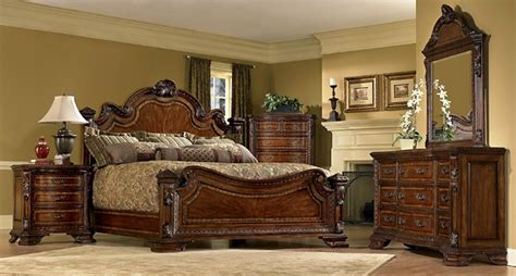 old world bedroom set a r t old world estate bedroom set in warm pomegranate
