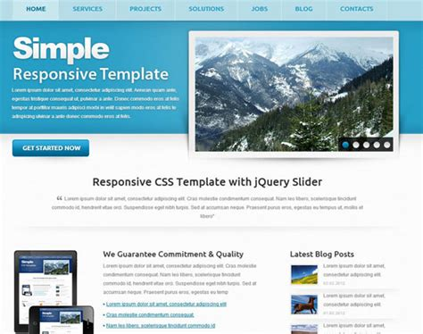 simple homepage template 115 free html5 css3 website templates the design hill