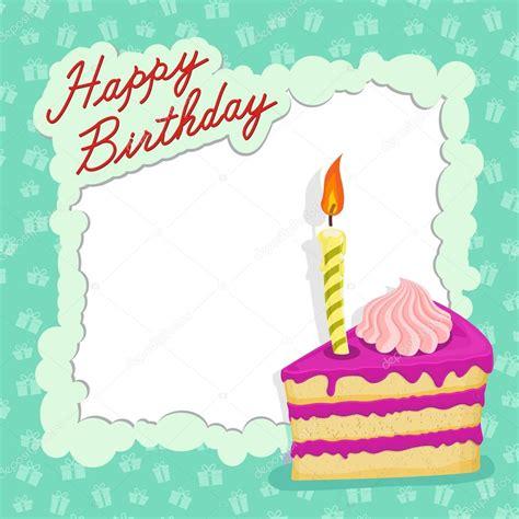 imagenes vectoriales feliz cumpleaños tarjeta del feliz cumplea 241 os pastel archivo im 225 genes