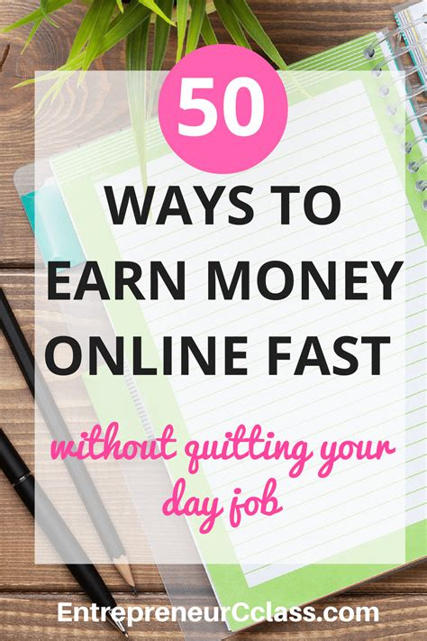 Make Money Online Quickly - 50 legitimate ways to earn money online fast in 2017