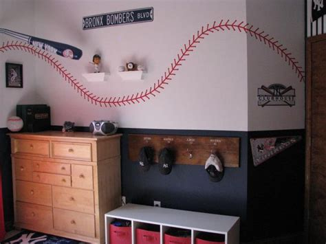 Baseball Bedroom Decorations Baseball Bedroom The Locker Room Style Coat Hat Rack With The Players Names And Numbers