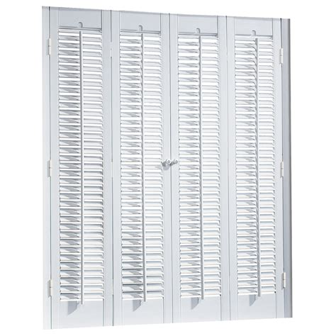 Wood Shutters Interior Lowes by Shop Allen Roth 39 In To 41 In W X 36 In L Colonial