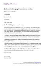 Appeal Letter Against Grievance Managing Employee Grievance Hr Inform