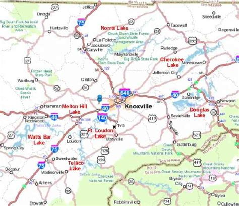 map of east tennessee map of knoxville tennessee holidaymapq