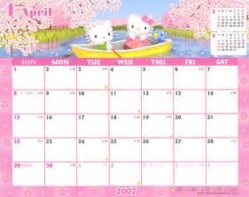 sanrio kitty 2007 calendar april crazysugarbunny flickr