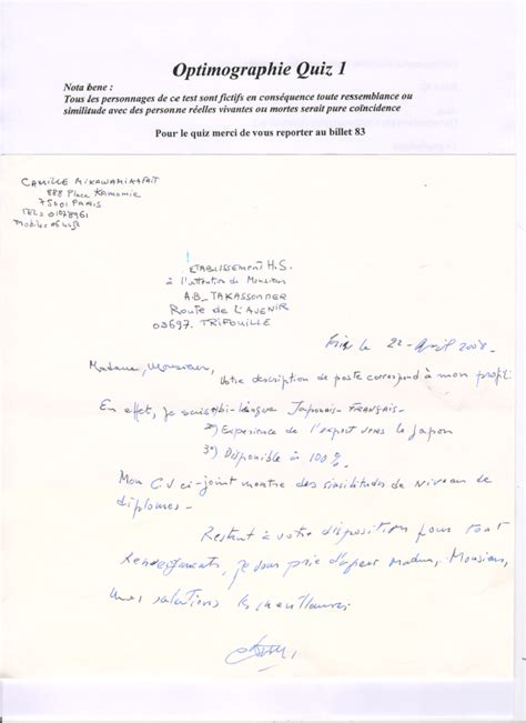 Lettre De Motivation Anglais Mise En Page Mise En Page Lettre De Motivation Manuscrite
