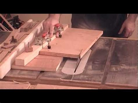 build  taper jig   table  youtube