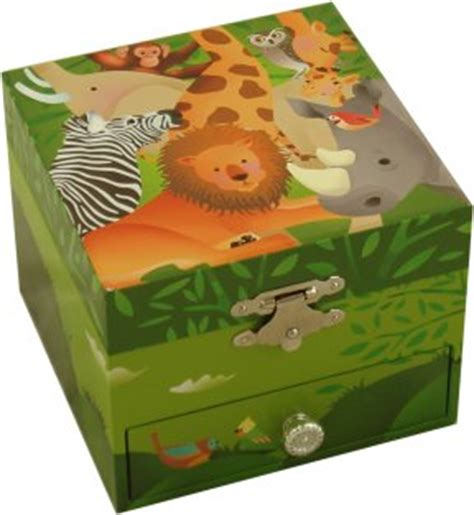 jungle animals box musical treasure boxes