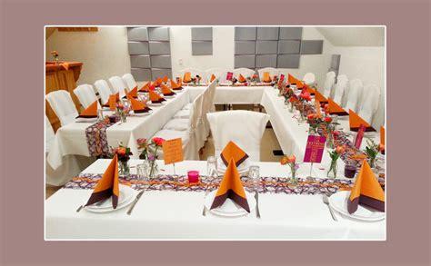 Tischdeko Hochzeit Orange by Tischdeko Tips