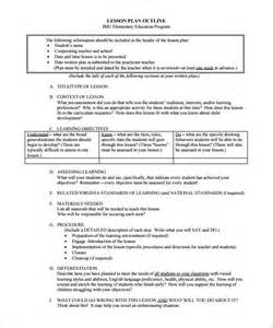 lesson format template lesson plan outline template 12 free sle exle