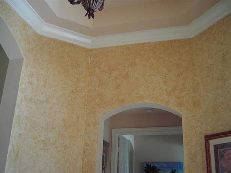 wall finish ideas cream faux wall finish combined with hexagon white gypsum