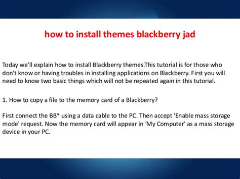 Themes Blackberry Jad | how to install themes blackberry jad
