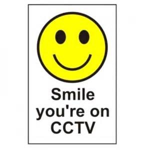 Cabinet Safes Smile Your On Cctv Signs