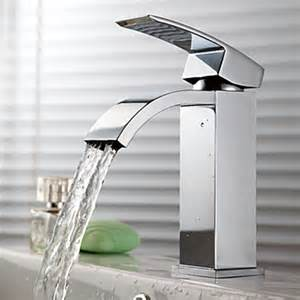 contemporary waterfall bathroom sink faucet chrome