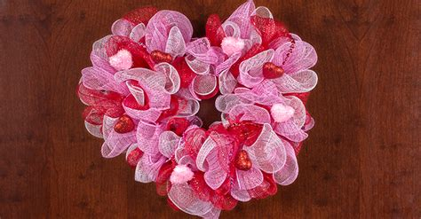 Floral Arrangement Supplies by Valentine S Day Deco Mesh Heart Wreath The Dollar Tree Blog