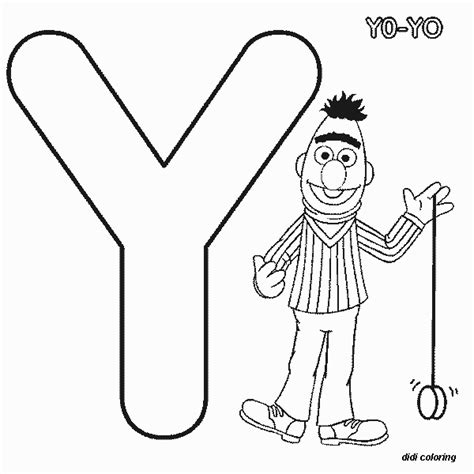 printable coloring pages letter y printable preschool alphabets uppercase letter y for yo