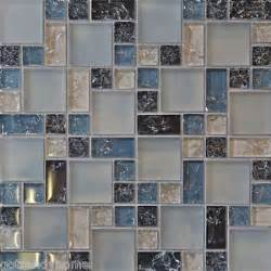 blue glass tile kitchen backsplash sle blue crackle glass mosaic tile kitchen backsplash bath wall sink 1 pool ebay