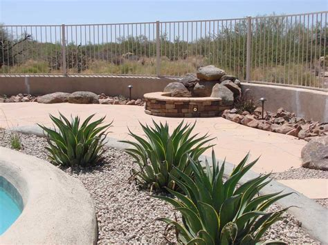 backyard desert landscaping ideas desert backyard landscape theme swimming pool side photo