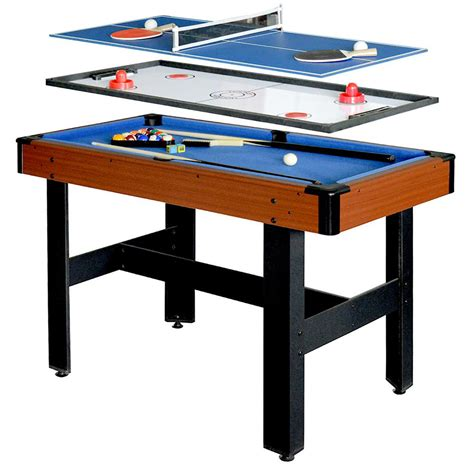 hathaway pool table combo hathaway triad 4 ft 3 in 1 multi game table bg1131m the