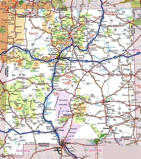 map of texas and new mexico cities new mexico road map