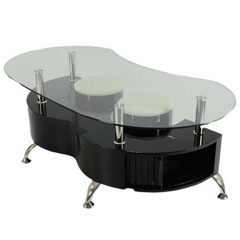 Funky Coffee Tables Uk Funky Palermo Contemporary Glass Coffee Table In Black Buy Coffee Tables Discount