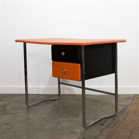 chrome bureau bureau orange chrome et noir