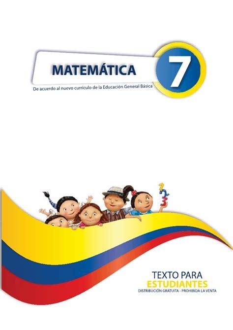 libro de cuarto ao basica ecuador libro matematicas de cuarto de basica ecuador matematica 7 1