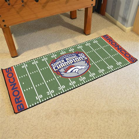 football field rug for denver broncos bowl 50 chs football field runner rug