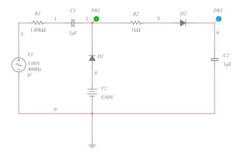 diode peak detector circuits multisim live