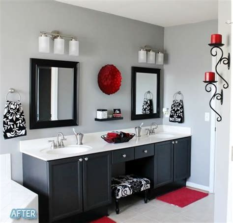Gray And Black Bathroom Ideas red bathroom decor ideas grey extraordinary on bathroom