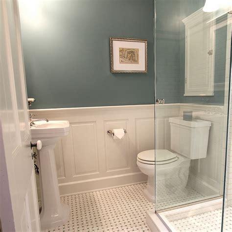 login small bathroom bathroom wainscot home bathrooms ideas