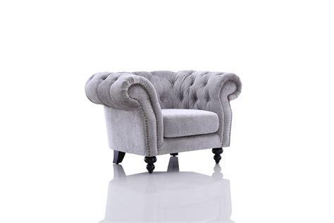 Grey Tufted Sofa Set Divani Casa Alexandrina Grey Tufted Fabric Sofa Set