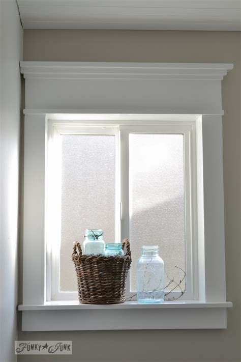 Bathroom Baseboard Ideas how to make a farmhouse window with mouldingfunky junk