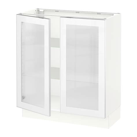 White Cabinet Glass Doors Ikea Cabinet With Frosted Glass Nazarm