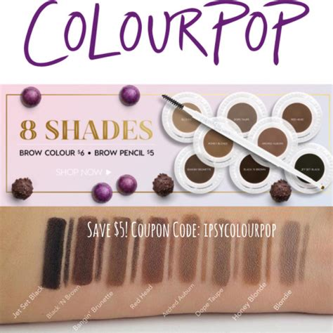 Colourpop Brow Pencil colourpop swatches i m e l t f o r m a k e u p