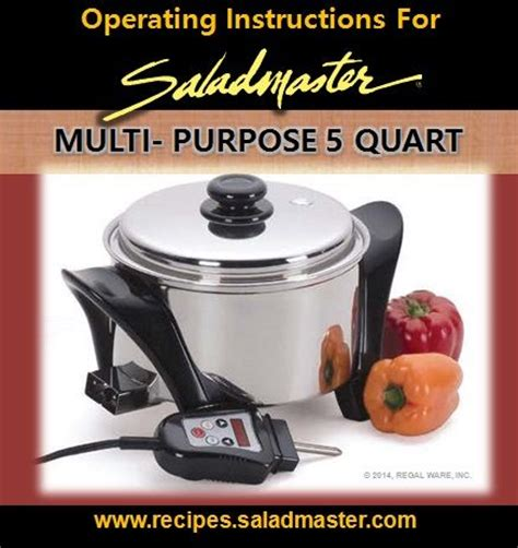 Rice Cooker Saladmaster operating for saladmaster multi purpose 5 quart mp5 electric portableoven