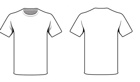 Plain White T Shirt Front And Back Clipart Best T Shirt Front And Back Template