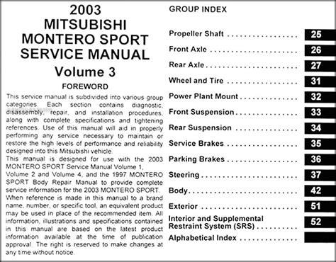 motor repair manual 1998 mitsubishi montero sport auto manual service manual pdf 2003 mitsubishi montero sport engine repair manuals 2003 mitsubishi
