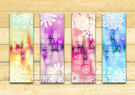 printable frozen bookmarks 9 best images of free disney printable frozen bookmarks