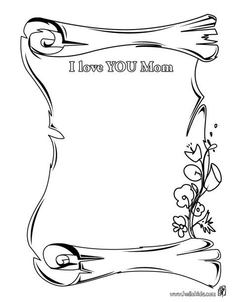coloring pages for your mom mother s day certificates coloring pages dear mom