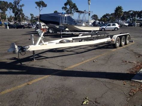 boat trailer triple axle used zieman triple axle trailer bloodydecks