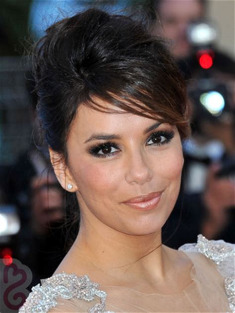 eva longoria sext french twist updo with side swept bangs updo hairstyles for weddings best bridal updos