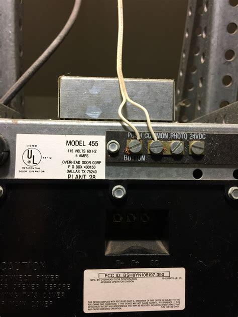 overhead garage door problems problem overhead door corp model 455 wiring openers