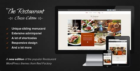 themeforest images the restaurant classic edition by redfactory themeforest