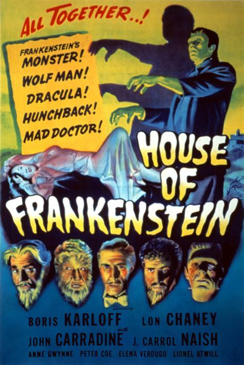 house of frankenstein house of frankenstein movie posters from movie poster shop