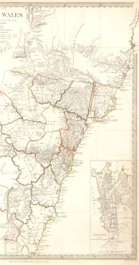 section maps south australia map of new south wales australia 1833