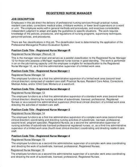 Registered Duties Resume by Registered Description For Resume Foodcity Me